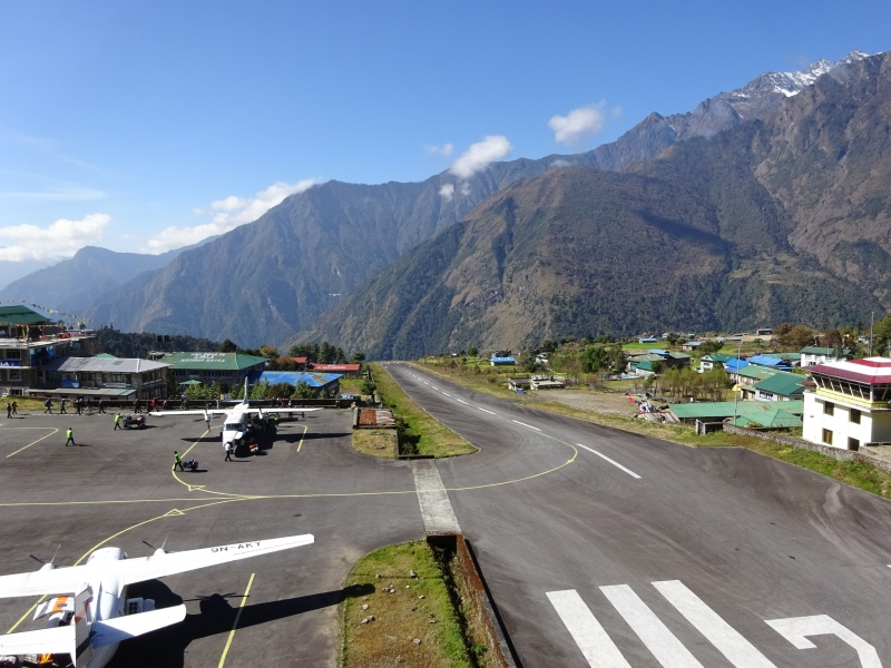 Lukla runway. For heaven's sake, there are highway onramps that are longer than this!