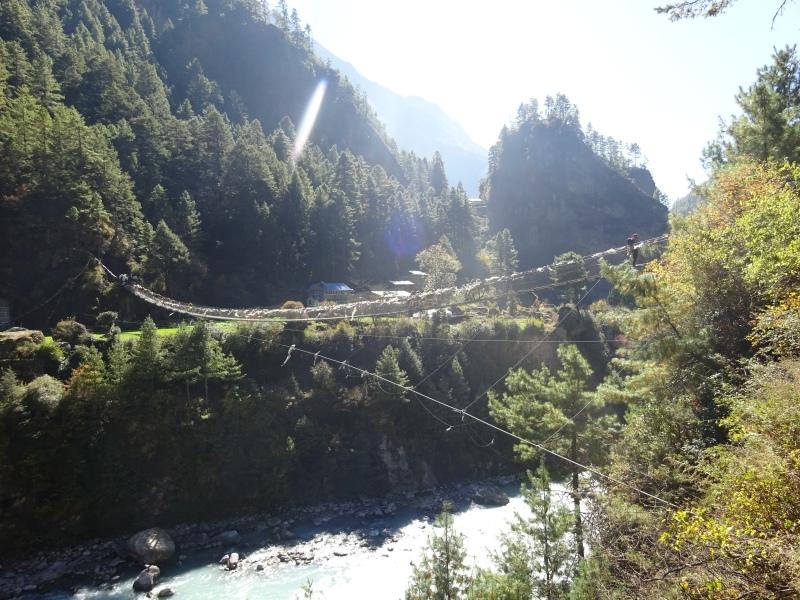 Decently low suspension bridge