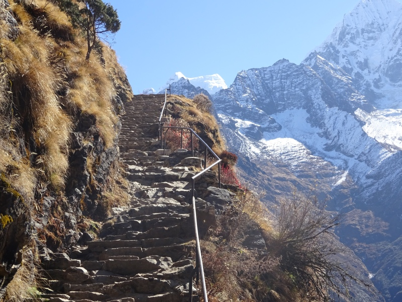 There were hundreds of sets of stairs like this one - so beautiful, yet so exhausting to climb!