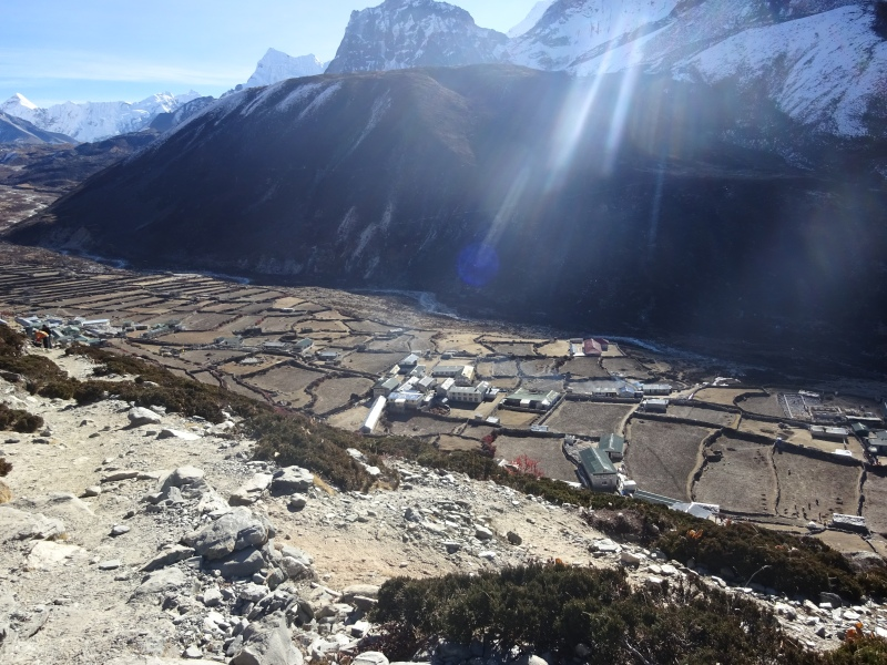 Leaving Dingboche behind