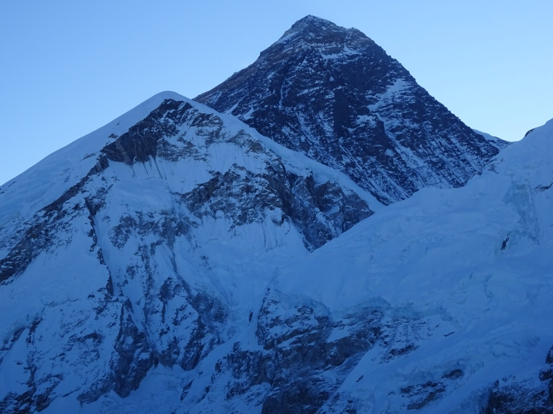 Our closest view of the Everest summit