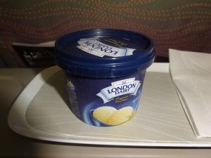 I snacked on ice cream while watching an insightful documentary about the Bolshoi ballet. Now that's air travel!