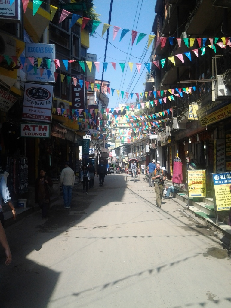 Street in Thamel near the guesthouse