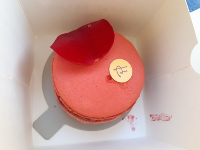 I bought this giant raspberry macaron of love